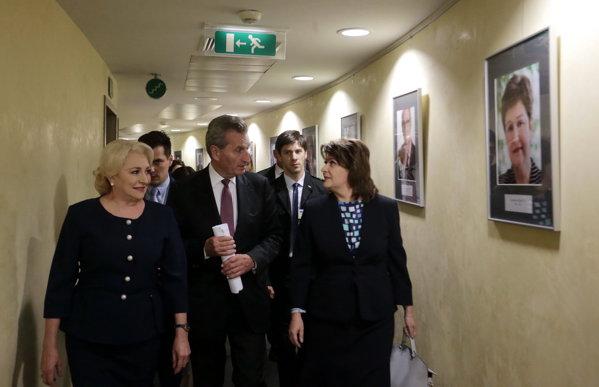 Viorica Dăncilă, întâlnire cu Gunther Oettinger