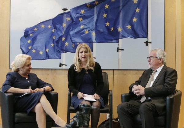 Viorica Dăncilă, întâlnire cu Jean Claude Juncker
