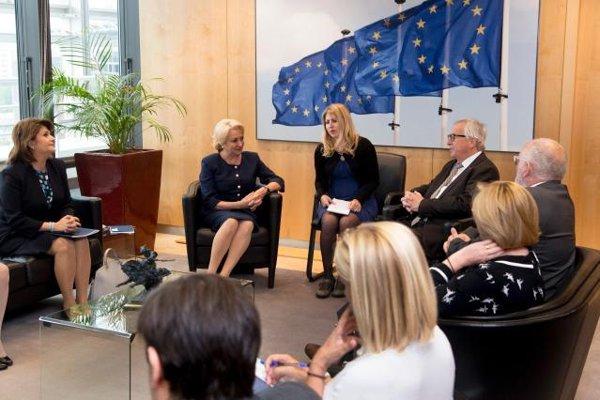 Viorica Dăncilă, discuţii cu Jean Claude Juncker şi Frans Timmermans