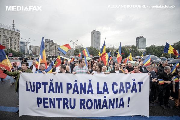 protest pnl in piata victoriei