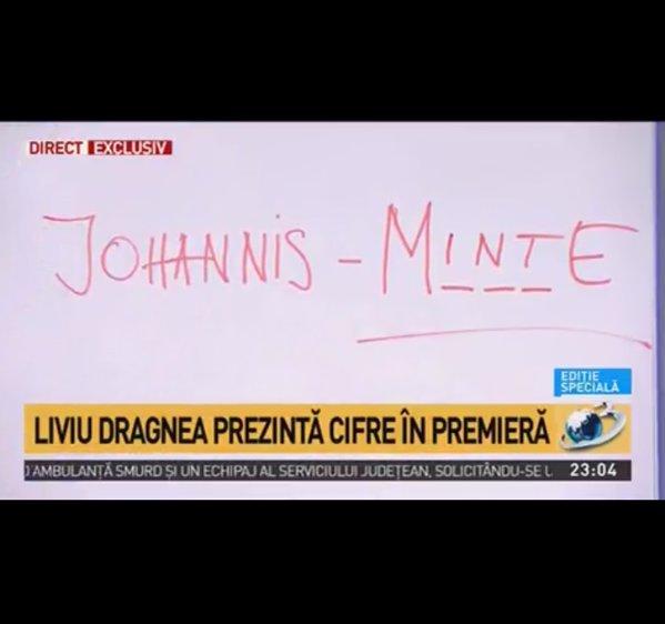 Liviu Dragnea, mesaj Iohannis MINTE
