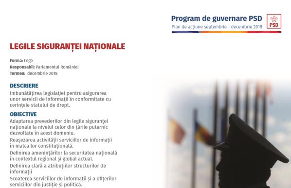 Proiect PSD Legile Siguranței Naționale