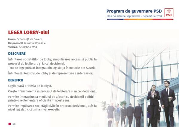 Proiect PSD-ALDE Lege lobby