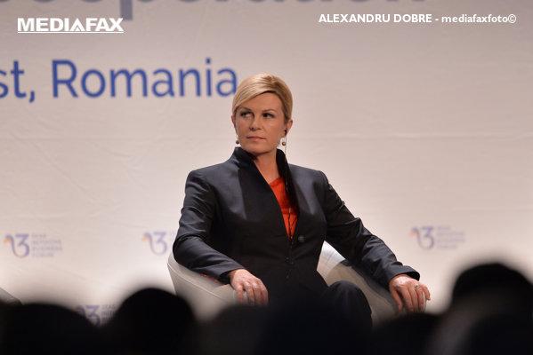 Kolinda Grabar-Kitarovic la Summitul Inițiativa celor Trei Mări București 2018