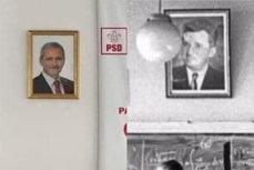 TOVARĂŞUL Dragnea îi veghează pe supuşi. Filiala PSD Constanţa are portretul liderului partidului pe perete. Ce, doamnă, e un lucru rău? Să-şi pună şi PNL o poză cu Orban