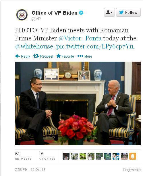 Vizitele în SUA. De ce premierul Ponta nu joacă în aceeași ligă cu președintele Băsescu. Ponta-biden