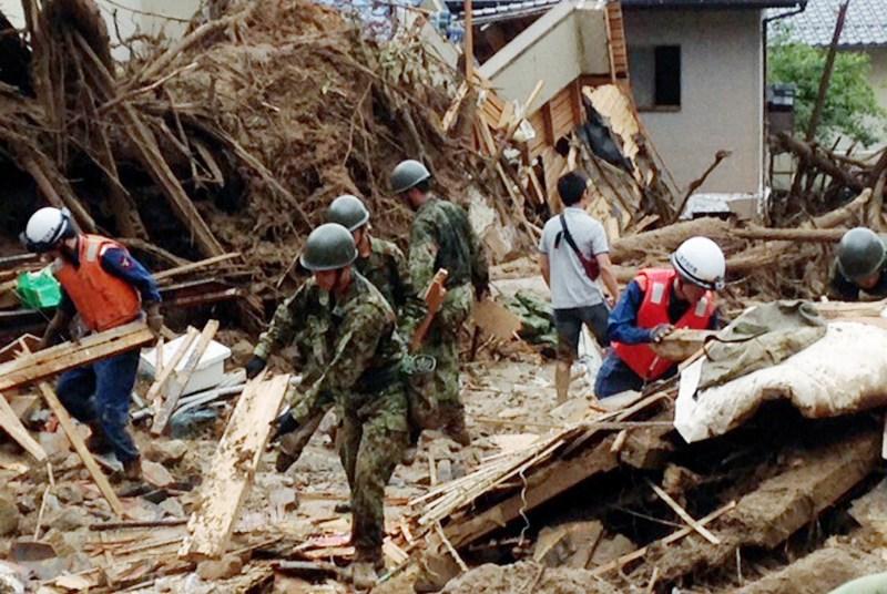 Dezastru �n Hiroshima. Alunecările de teren au făcut zeci de victime
