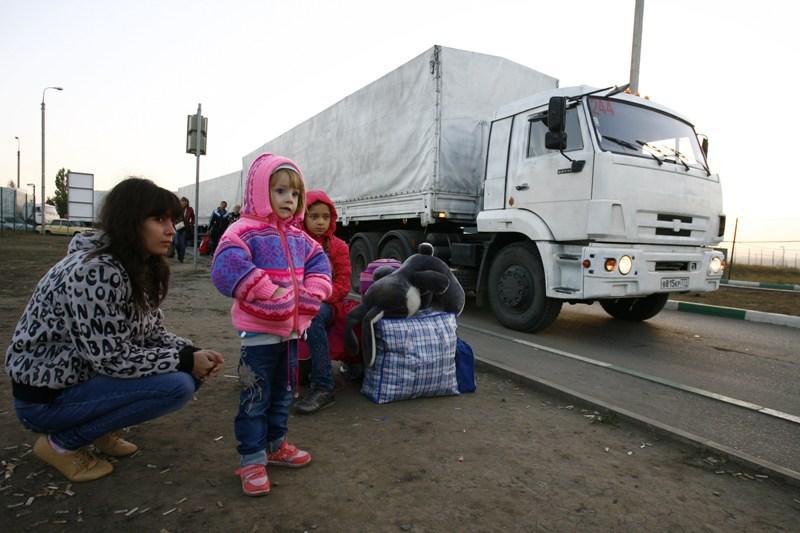Al doilea convoi umanitar rusesc a livrat ajutoare �n estul Ucrainei: 2.000 de tone de ajutoare au ajuns �n Donbass