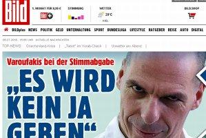 89% dintre germani spun ''NU'' Greciei, conform unui ''referendum'' al revistei Bild