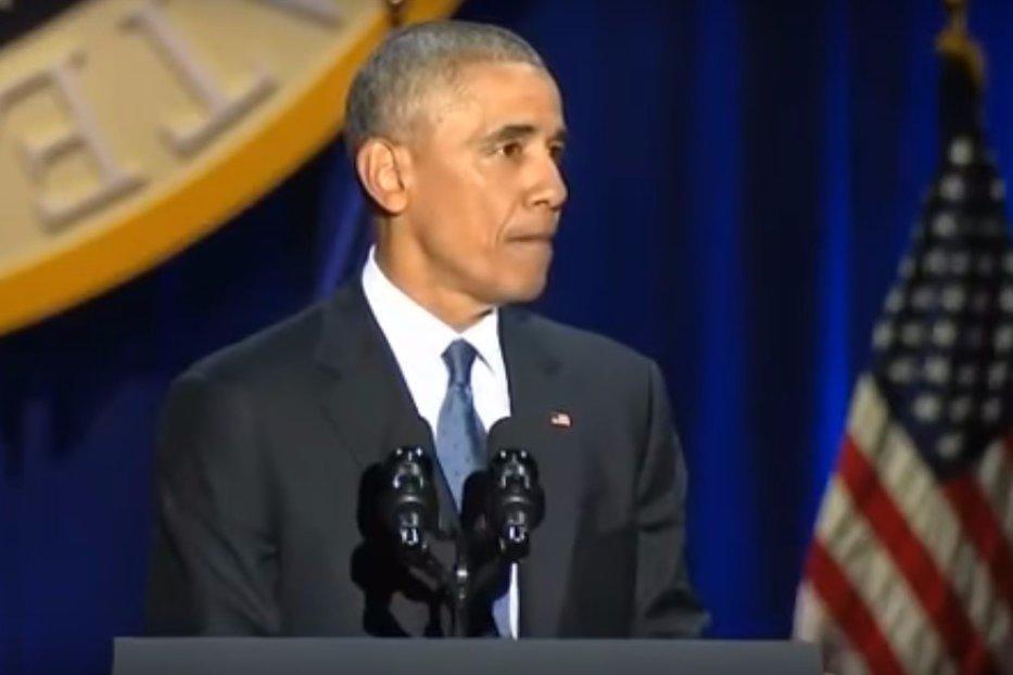 Momentul în care Obama a izbucnit în lacrimi în timp ce susţinea ultimul discurs în calitate de preşedinte. VIDEO