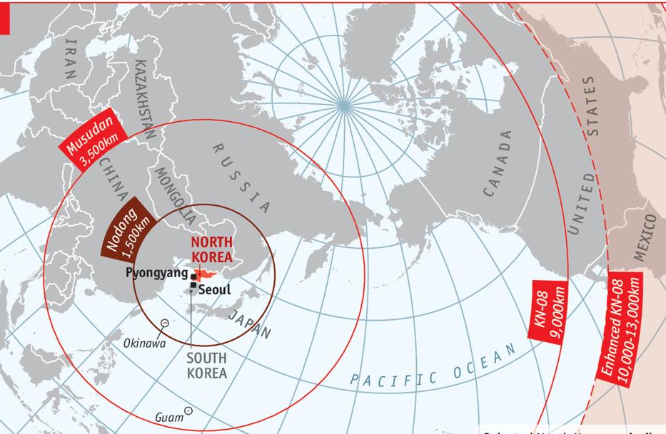 În câte minute ajunge o rachetă din Coreea de Nord pe Insula Guam. Autorităţile americane sunt în alertă