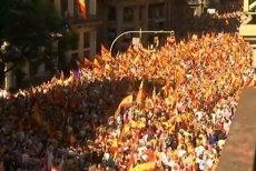 """VIDEO. Miting de amploare la Barcelona împotriva intenţiei de declarare a independenţei Cataloniei. Llosa: Planul complotist """"nu va distruge 500 de ani de istorie"""" a unităţii Spaniei"""