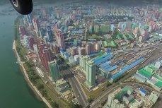 Imagini RARE. Cum arată Phenianul filmat din aer. VIDEO spectaculos din capitala Coreei de Nord