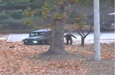 Imagini dramatice de pe camerele de supraveghere cu momentul împuşcării soldatului nord-coreean care încerca să fugă în Coreea de sud. VIDEO
