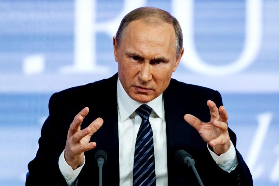 """Vladimir Putin: Politica SUA de a impune sancţiuni, un semn de slăbiciune. """"Ne-au pus pe toţi pe o listă neagră"""""""