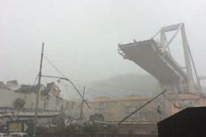 Un pod rutier S-A PRĂBUŞIT în apropiere de Genova. Ministrul Transporturilor: O TRAGEDIE cu cel puţin 38 de morţi, printre care şi doi români