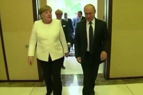 PUTIN şi MERKEL şi-au sincronizat ceasurile lângă Berlin. Nord Stream 2, unul din cele mai APRINSE subiecte