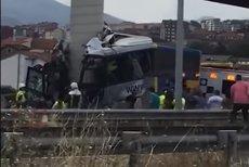Un autobuz a intrat ÎN PILONUL UNUI VIADUCT în nordul Spaniei: 5 morţi şi 16 răniţi. Nici un român printre victime