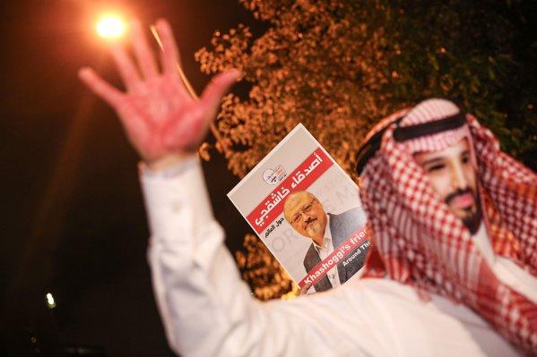 Protest pentru aflarea adevărului privind asasinarea lui Khashoggi