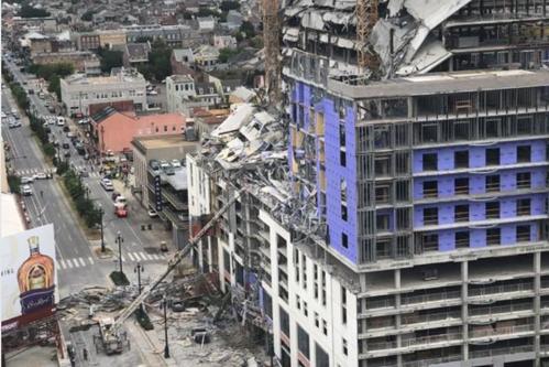 Momentul în care un hotel în construcţie din New Orleans se prăbuşeşte. Un mort şi doi dispăruţi - VIDEO