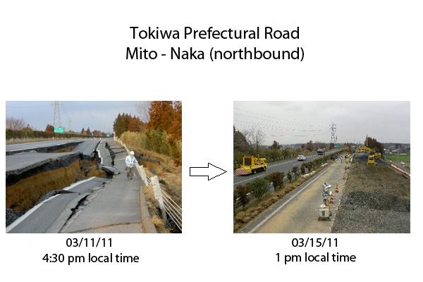 Japonia: Drum distrus de cutremur, reconstruit în 4 zile