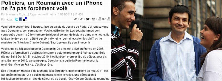 VINOVAŢI pentru că suntem ROMÂNI. Incredibila poveste a trei români ARESTAŢI în FRANŢA pentru că aveau iPhone. Unul este masterand la SORBONA, altul antreprenor