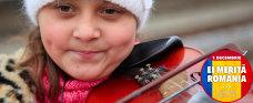 """EI MERITĂ ROMÂNIA. Fetiţa de 9 ani care învăţa să cânte la vioară la lumina becului din gară: """"De multe ori nu am avut ce mânca în casă şi stăteam şi răbdam"""". REPORTAJ VIDEO"""