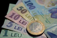 Cursul a revenit joi la 4,5 lei/euro UPDATE