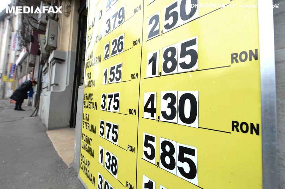 Cursul leu - dolar, la cel mai scăzut nivel din ultimele opt luni