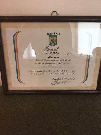 Brevet semnat de Ion Iliescu via OLX