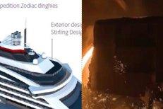 """TABLA GROASĂ de Galaţi ajunge la POLUL NORD. Construcţia vasului de explorare polară """"Le Comandant Charcot"""" este în toi"""