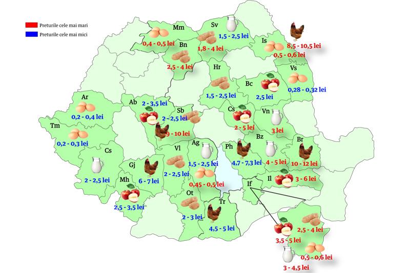 Harta Alimentelor Unde Se Găsește Cea Mai Ieftină Mancare și Cum