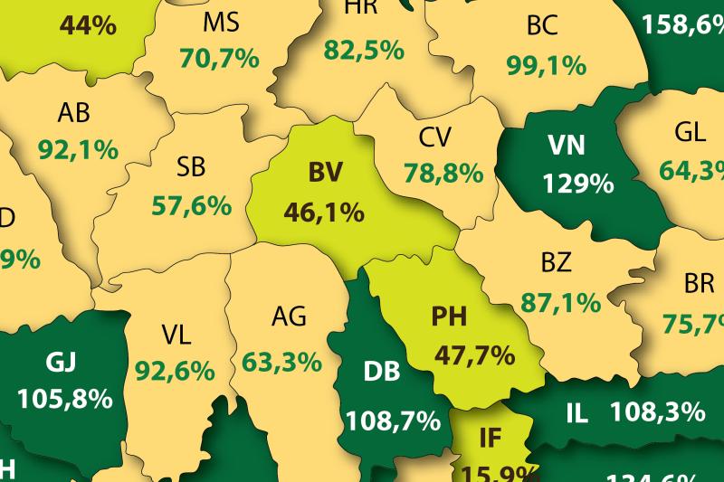 HARTA BANILOR din România. Cât dă şi cât primeşte înapoi de la bugetul de stat judeţul tău