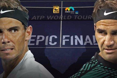 Roger Federer a câştigat finala de la Miami, împotriva lui Rafael Nadal