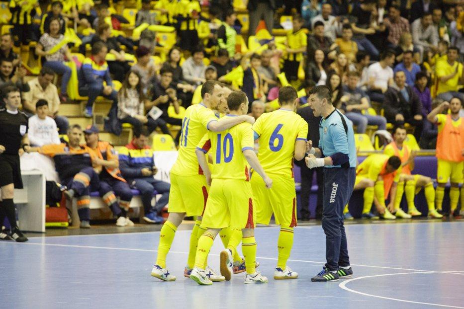 România, două goluri în ultimele patru secunde ale meciului cu Finlanda, în preliminariile CE de Futsal din 2018. Partida s-a terminat la egalitate: 5-5