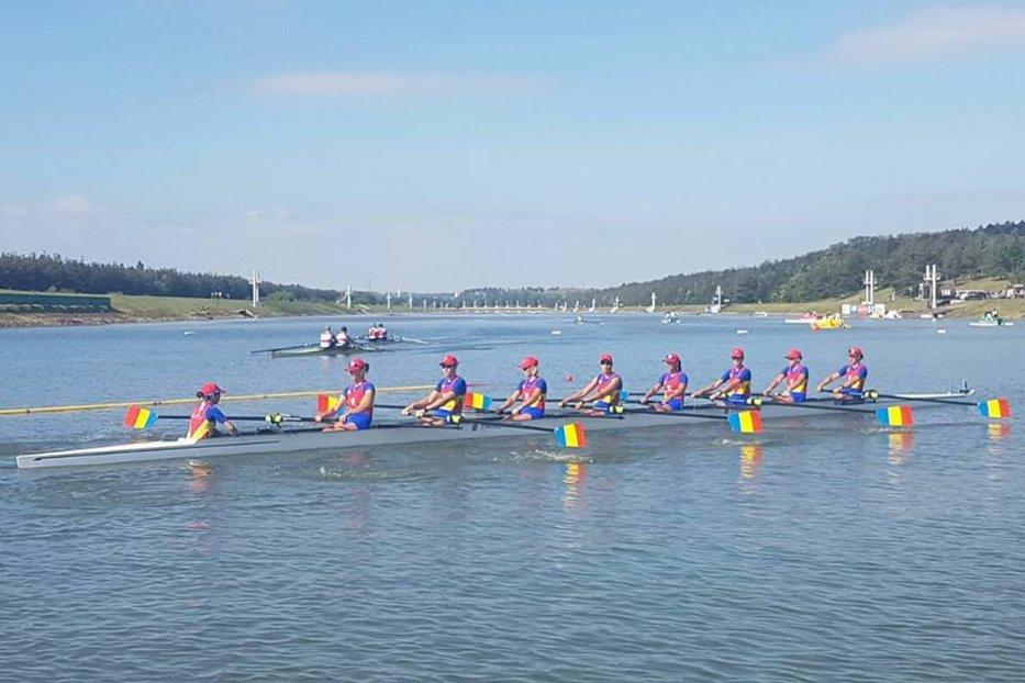 Medalie de aur pentru echipajul feminin de 8+1 al României la Cupa Mondială de canotaj