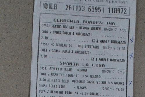 Un român a dat lovitura la pariuri: suma uriaşă câştigată cu doar 2 lei. Cum arată biletul câştigător