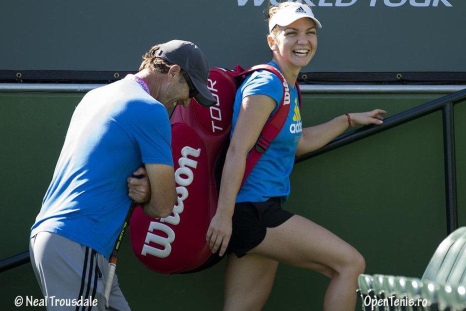 Cum a schimbat Darren Cahill soarta meciului Simonei Halep în turul trei de la Indian Wells