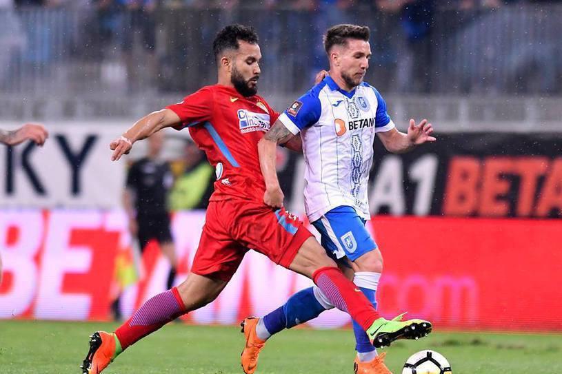 FCSB s-a impus cu 1-0 în faţa CSU Craiova. Meci nebun cu două eliminări. Titlul se joacă duminică seara