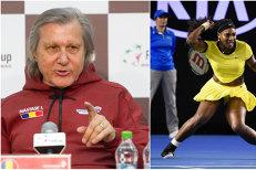 """Ilie Năstase o atacă din nou pe Serena Williams. """"Arată bine îmbrăcată! Nu poate slăbi până la Roland Garros!"""""""