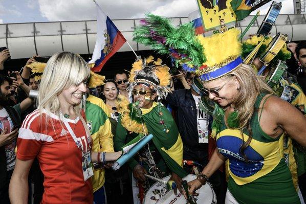 Suporteri brazilieni în Rusia