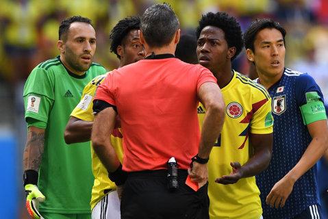 Poliţia din Columbia, în alertă, după ce un fotbalist  a fost ameninţat cu moartea, pentru un penalty făcut la Cupa Mondială