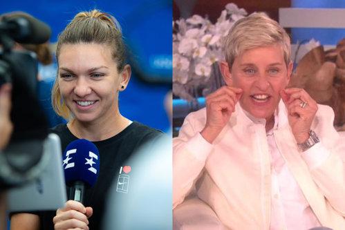 Simona Halep a apărut la celebrul show al lui Ellen DeGeneres. Replici savuroase şi hohote de râs cât cuprinde - VIDEO