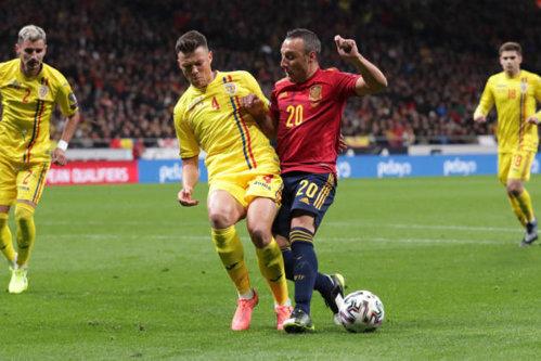 Spania - România EURO 2020, scor final 5 - 0 / Au marcat F. Ruiz min. 8, G. Moreno 33, 43, autogol Rus 45+1, Oyarzabal 90+2 / Câte bilete au cumpărat românii pentru meciul de la Madrid