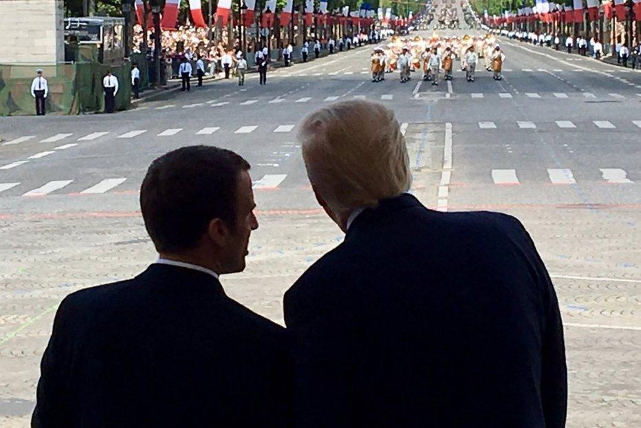 Parada Macron-Trump