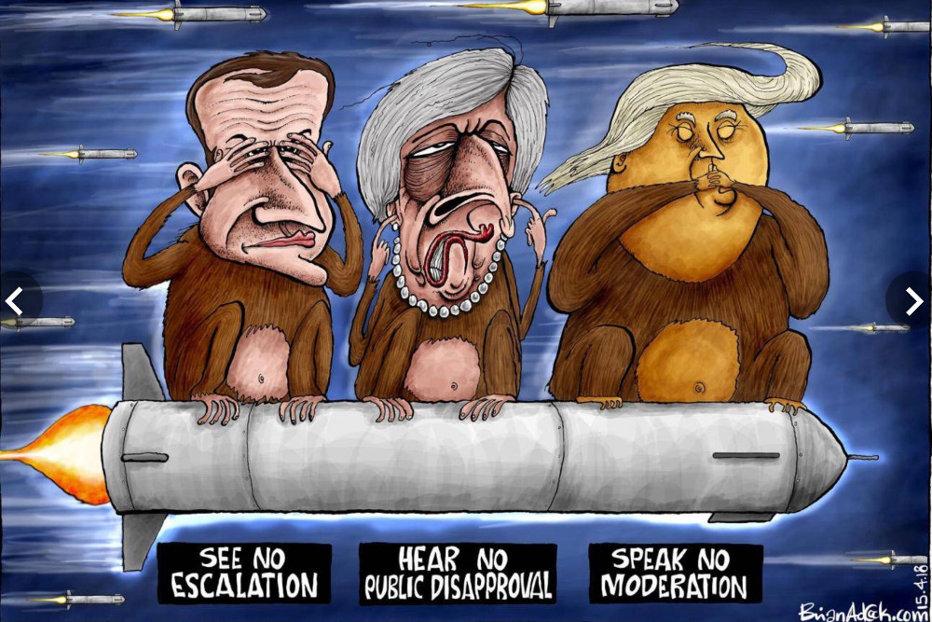Empatia selectivă a coaliţiei ad-hoc americano-franco-britanice