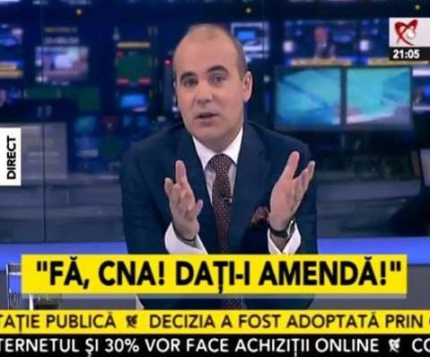 Imagine din emisiunea lui Rareș Bogdan, Realitatea TV