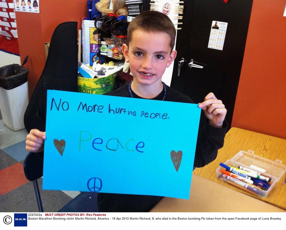 Fotografie nedatată ce-l înfăţişează pe Martin Richard, în vârstă de 8 ani, una dintre victimele atentatului cu bombă din Boston. Fotografia este preluată de pe pagina de Facebook a Luciei Brawley.