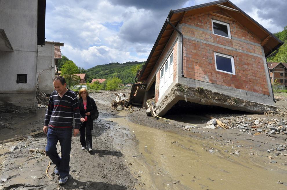 Inundaţii în Balcani