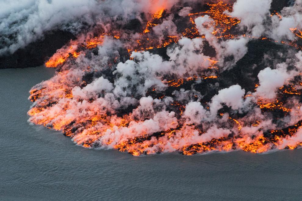 Fotografie aeriana a vulcanului Bardarbunga din sud-estul Islandei, duminică, 14 septembrie 2014.